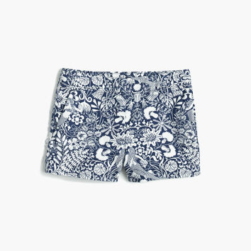 Girls' Frankie short in mermaid floral : Girl frankie | J.Crew