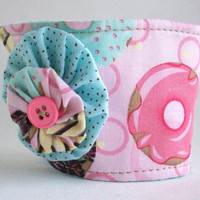 Donut Coffee Cup Cozy / Pink Doughnut Drink Sleeve