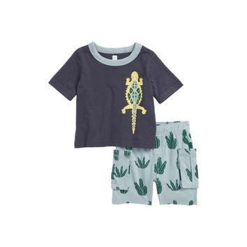 Tea Collection Baby Boys Desert Lizard T-Shirt & Cargo