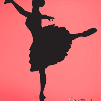 Vinyl Wall Decal Sticker Ballerina Dancer #605