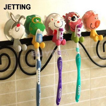 Mini Toothbrush Holder Bathroom Product Sanitary Ware Accessories Lovely Household Animal Type Toothbrush Holder