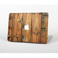 "The Vertical Raw Aged Wood Planks Skin Set for the Apple MacBook Pro 13"" with Retina Display"