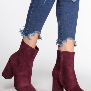 Walk and Talk Booties - Merlot