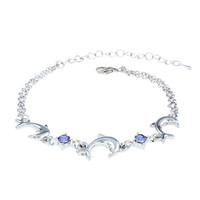 Cupshe Dolphin Bay Purple Diamond Bracelet