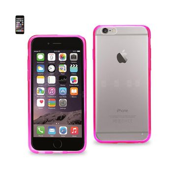 New Clear Back Frame Bumper Case In Pink For iPhone 6 By Reiko