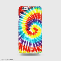 iPhone 6 Plus Case  Tie Dye Rainbow Art