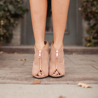 Filled with Zippers Open Toe Wedges