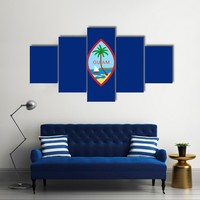 Flag Of Guam Multi Panel Canvas Wall Art
