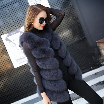 Fox Fur Vest, Fur Wrap, Natural Fox Fur Vest Jacket, Multiple Color Options Available