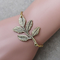 Leaves bracelet, fashion jewelry, personalized gifts, the best gift of friendship