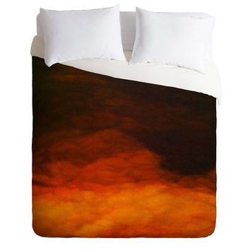 John Turner Jr Abstract Sun Duvet Cover
