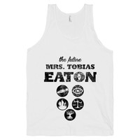 The Future Mrs. Tobias Eaton, Divergent Shirt, Movie, Book, White American Apparel Tank Top