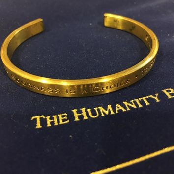 Humanity Bracelet To Be Loved Unisex Metal Engraved Cuff Bracelet no returns attic