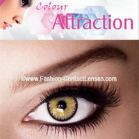 Color Attraction Light Topaz Contact Lenses