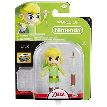 "NEW 2017 Zelda LINK With Wand World Of Nintendo 4.5"" Figure"