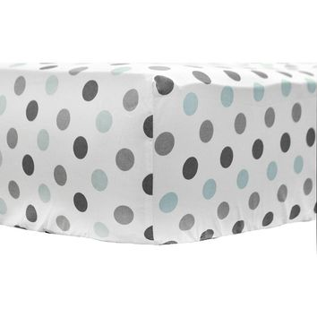 My Baby Sam Dotted Crib Sheet One