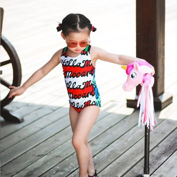 Kids Swimwear For Girls 2018 Two Piece Girl Children Baby Swim Big Korea Swimsuit Undertakes Animal Linen Sierra Surfer