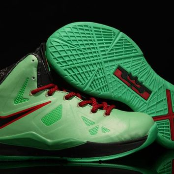 Nike LeBron Green Youth Kids Basketball Shoes US 11C - 3Y
