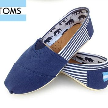 VLX0E4 MEN/WOME TOMS UNISEX FLAT SHOES FASHION LEISURE LOAFERS