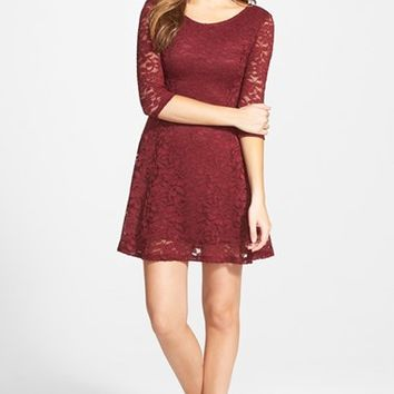Lush Lace Fit & Flare Dress | Nordstrom