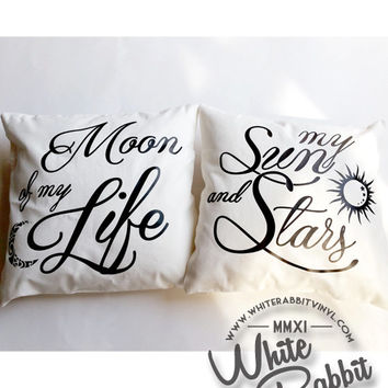 Game of Thrones My Sun and Stars Moon of My Life Pillowcase Set anniversary wedding reception birthday home decor pillow cover