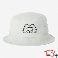 Mickey's Love Sign bucket hat