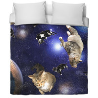 Cats in Space Duvet Cover