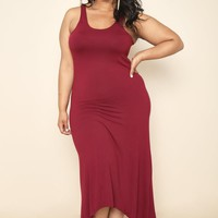 Solid  Plus Size Dress