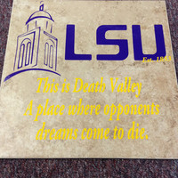 12inx12in LSU Tigers Death Valley Tile