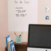 Walls Need Love Dry-Erase Notebook Wall Decal
