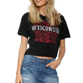Retro Brand Wisconsin BF Cropped Tee
