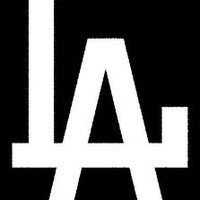 LA Dodgers (Solid) Sticker (Decal) - 6""
