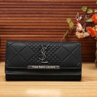 YSL Women Fashion Leather Shopping Wallet Purse-8