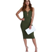 Olive Dont Care Midi Dress