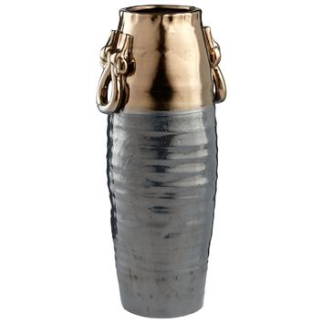 Large Tigris Bronze & Zinc Ceramic Vessel by Cyan Design