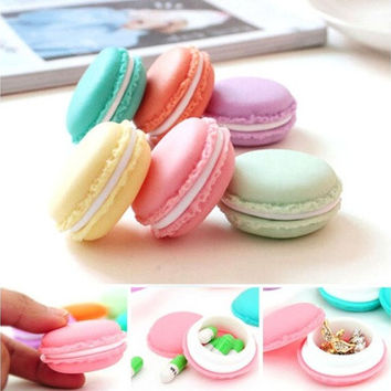 6 PCS Lovely Style SD Card Macarons Mini Earphone Bag  Carrying Pouch Storage Case [10198321671]