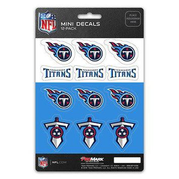 Licensed Official New NFL Tennessee Titans Die-Cut Premium Vinyl Mini Decal / Sticker Pack