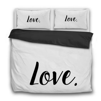 Love. 3 Pcs Bedding Set