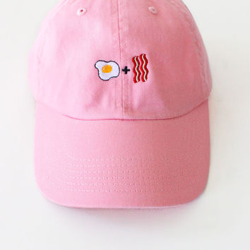 Egg & Bacon Cap - Pink
