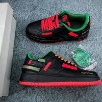 Nike Air Force 1 07 Frontal Panel Wearable Temporary Black/ Red/ Blue - Best Online Sale