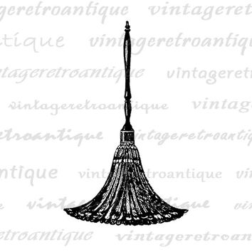 Antique Feather Duster Digital Printable Download Graphic Image Illustration Vintage Clip Art Jpg Png Eps  HQ 300dpi No.2865