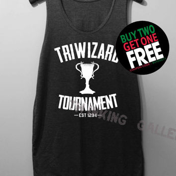 Triwizard Tournament Shirt Harry Potter Shirt Tank Top Tunic TShirt T Shirt Singlet - Size S M L