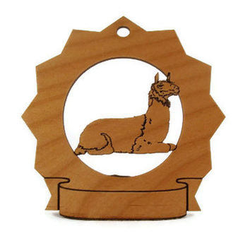 Llama Laying Personalized Farm Ornament