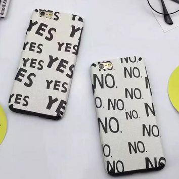 YES NO iPhone 5se 5s 6 6s Plus Case Cover + Nice Gift Box 362