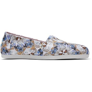 TOMS - Women's Classics Ortholite Radial Butterfly Canvas Print Slip-Ons