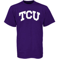 Mens TCU Horned Frogs Purple Arch T-Shirt