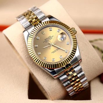 Rolex Ladies Men Women Quartz Watches Business Wrist Watch