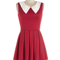 Prose and Contrast Dress in Red