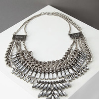 Layered Chain Rhinestone Necklace