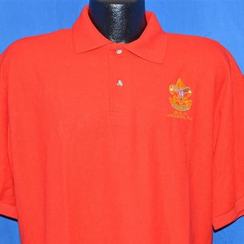 90s Boy Scouts Class B Uniform Polo Shirt Large